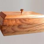 caixa de madeira de cerejeira artesanal
