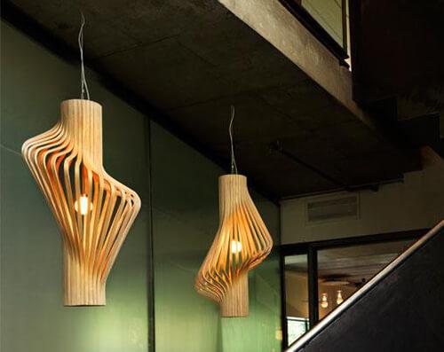 luminária decorativa artesanato em madeira