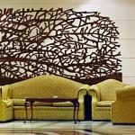 painel de interior decorativo artesanato em madeira