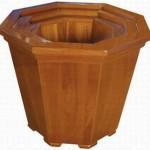 vaso de madeira decoração artesanato