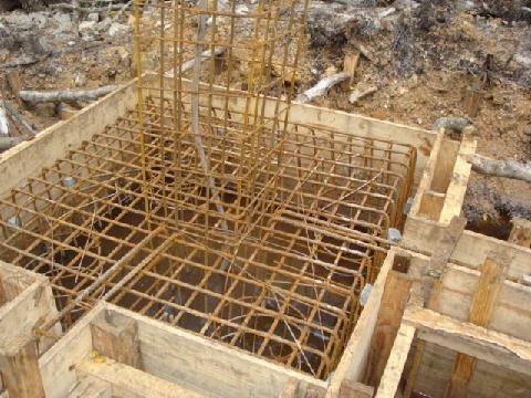 Armadura de bloco de fundação