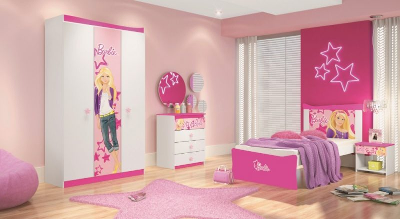 Guarda-roupa roupa de meninas da Barbie