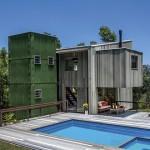 Casa sustentável com madeira plástica
