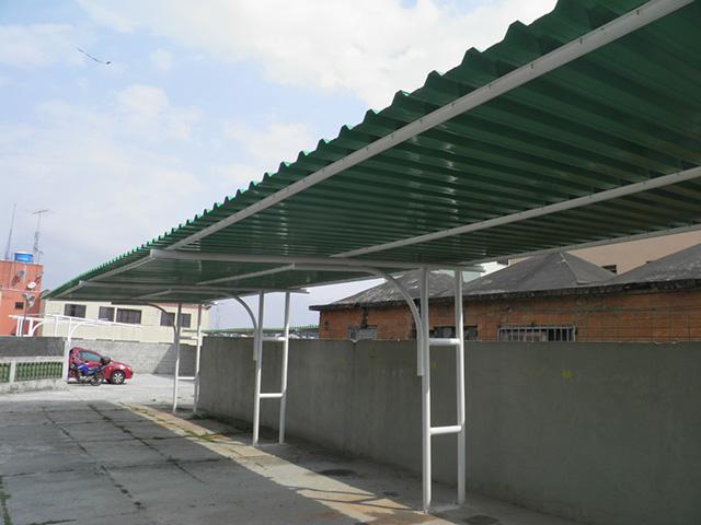 cobertura de estacionamento com telha galvanizada