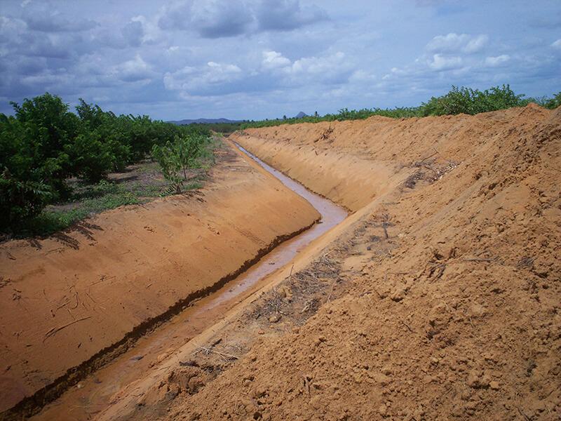 drenagem agrícola, drenagem de áreas de larga escala
