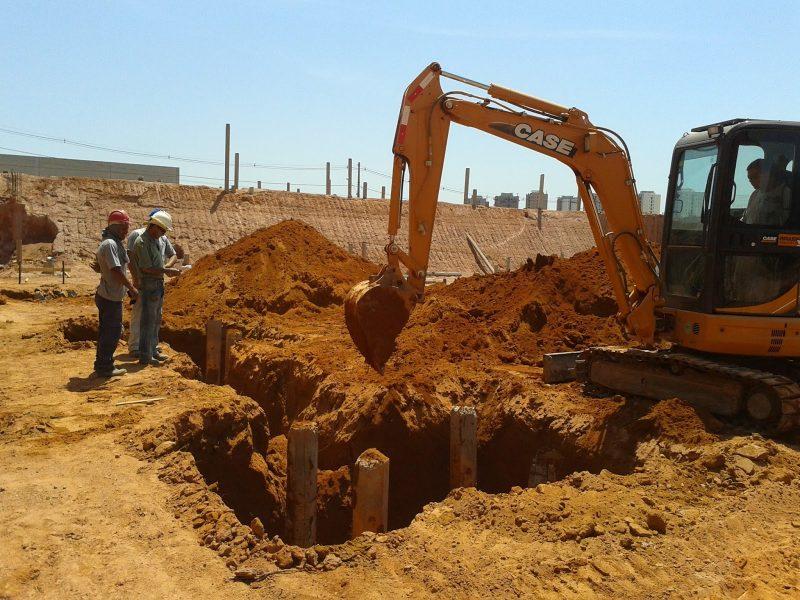 fundação profunda escavada