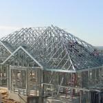 Estrutura de residência em aço