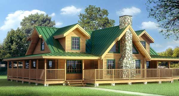 Fachada de casa de campo tradicional