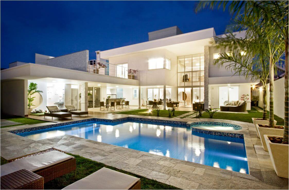 Fachadas de casas 2018 100 frentes modernas e baratas for Cuanto cuesta una casa con alberca