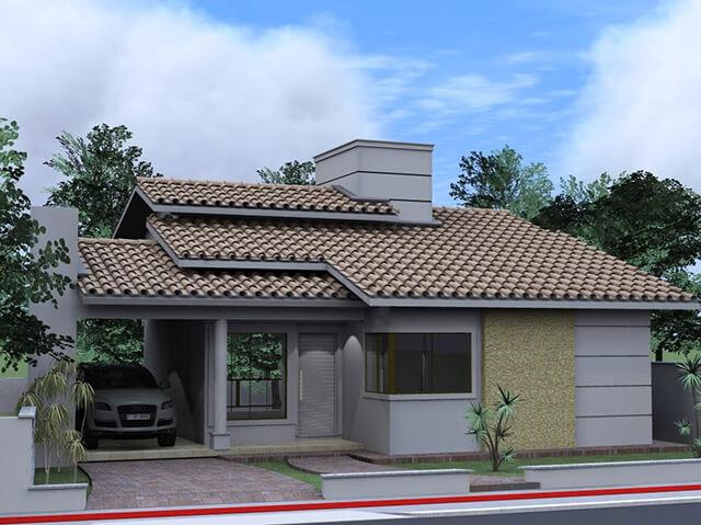 Fachada de casa simples e bonita 2