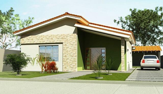 Fachadas de casas 2018 100 frentes modernas e baratas for Pinturas bonitas para casas
