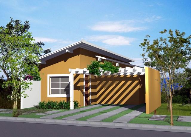 Fachada de casa simples e bonita 4