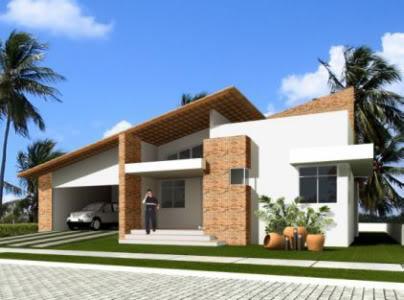 Fachada de casa simples e bonita 5