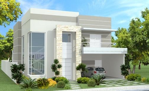 100 fachadas de casas modernas e baratas aqui for Fachadas de viviendas