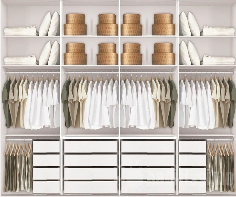 Guarda roupas de casal interno