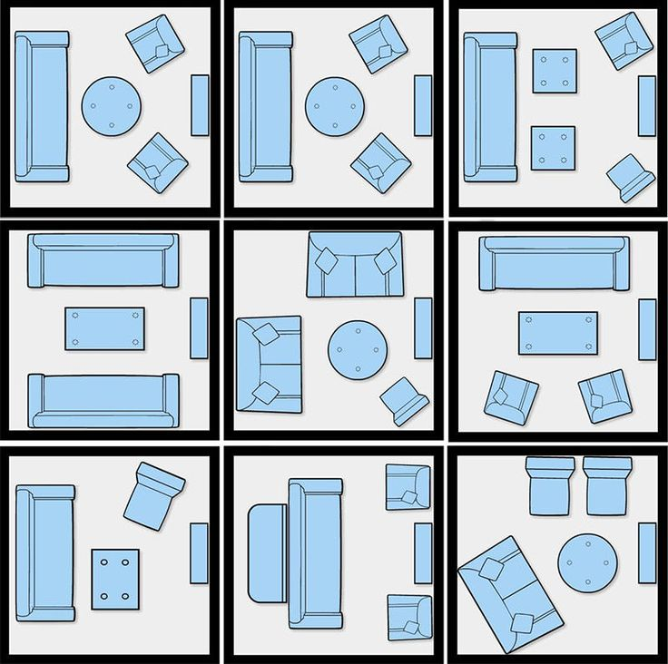 Layouts possíveis para decorar uma sala de estar quadrada pequena