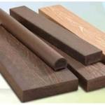 Peça de deck de madeira plástica