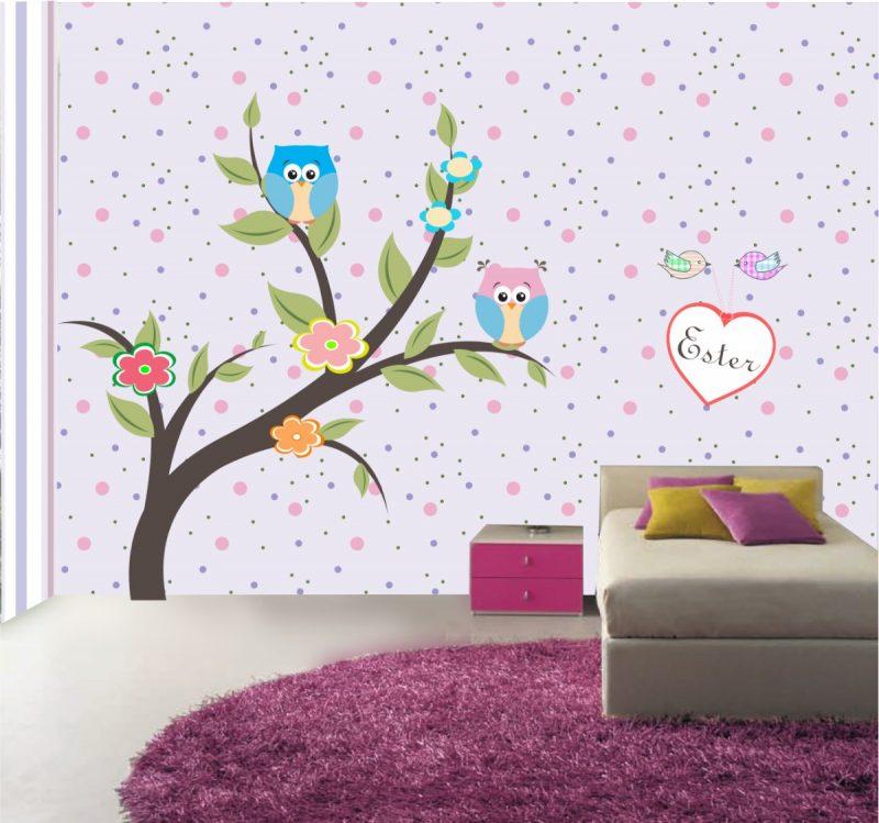 adesivo de parede quarto de meninas