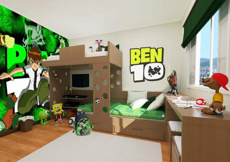 quarto de menino Ben 10