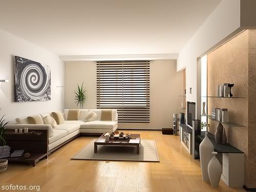 sala decorada minimalista