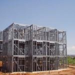 Steel frame na construção popular: prédio de 3 pavimentos com o sistema