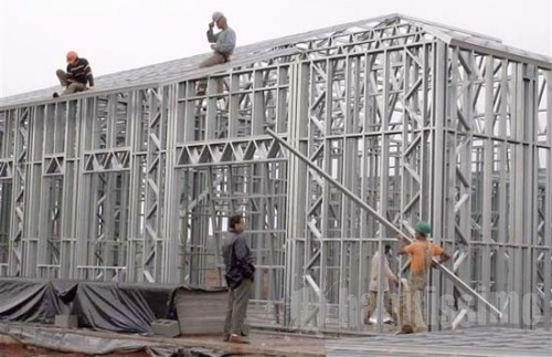Processo de montagem de Steel frame