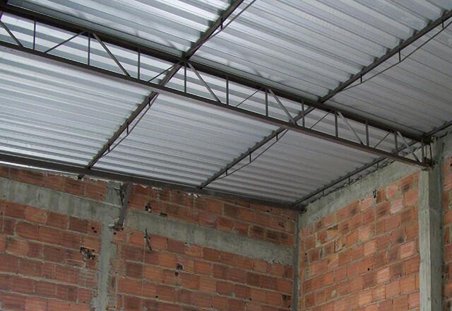 cobertura de telha galvanizada