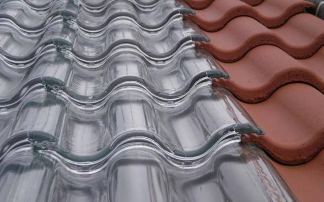telha transparente de vidro