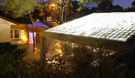 cobertura de telhado transparente