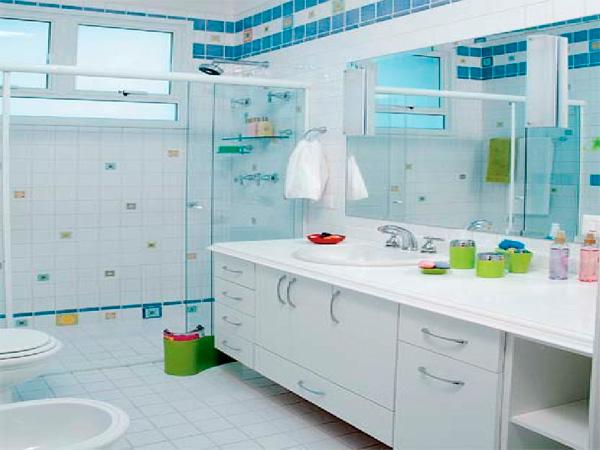 Dicas de Decoração de Banheiros Pequenos -> Decoracao De Ceramica Para Banheiro Pequeno