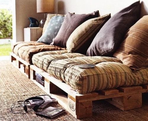 Decoração sofás com pallets