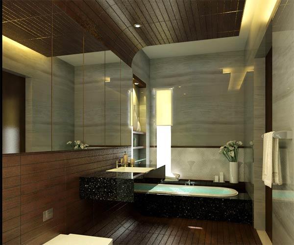 Dicas de Decoração de Banheiros Pequenos -> Banheiro Pequeno Espelho