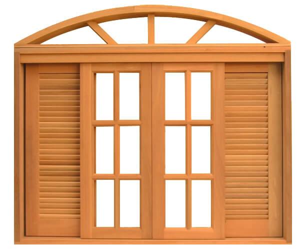 janela de madeira de correr