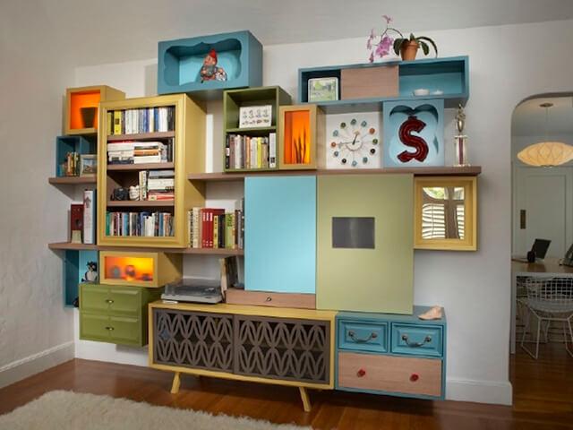 decoração sustentável - móvel reciclado