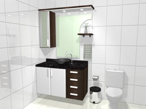 Armários e Gabinetes para banheiro -> Armarinho Banheiro Simples
