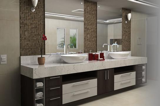 Armários e Gabinetes para banheiro -> Tamanho De Pia De Banheiro Com Duas Cubas