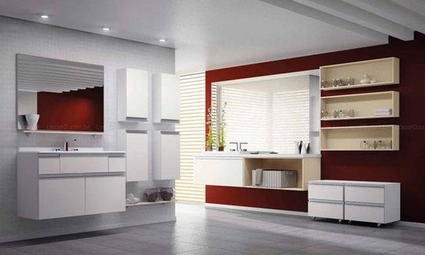 armário amplo para banheiro