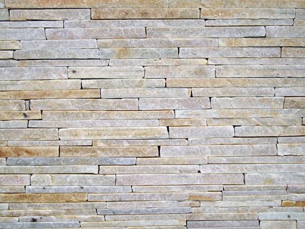 textura da pedra palito de São Tomé assentada sem relevo