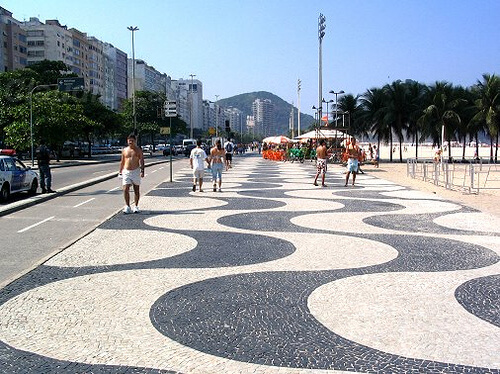 Pedra portuguesa calçadão