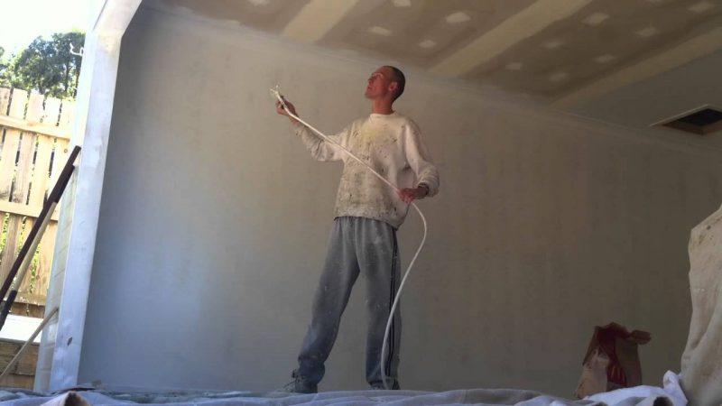 aplicação em parede de gesso