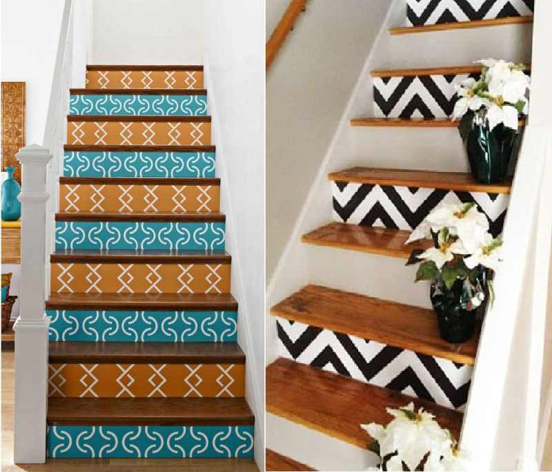 Escada de Madeira decorada