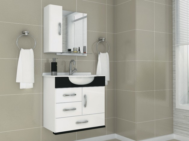 gabinete simples branco