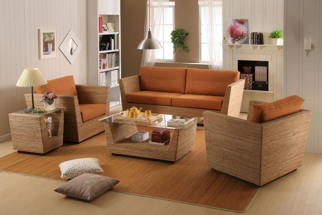 2- Móveis de Bambu: Sala projetada com Bambu tratado industrialmente