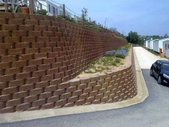Muro de arrimo residencial