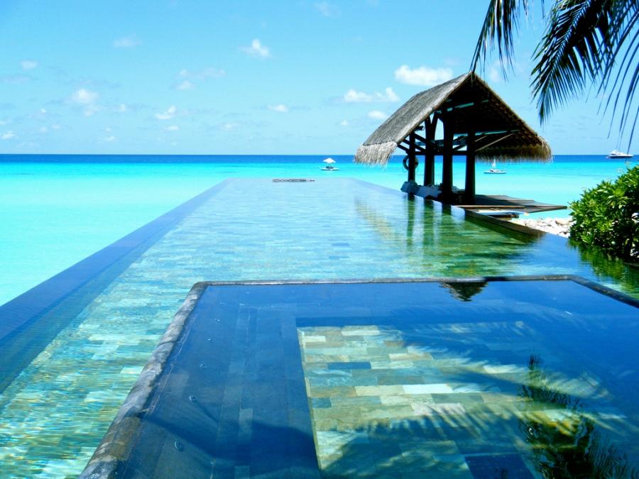 Em uma das ilhas das Maldivas