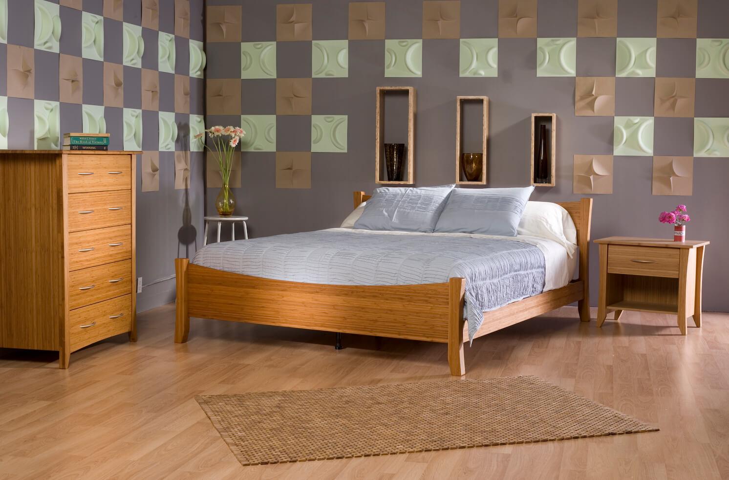 5- Móveis de Bambu: Quarto decorado