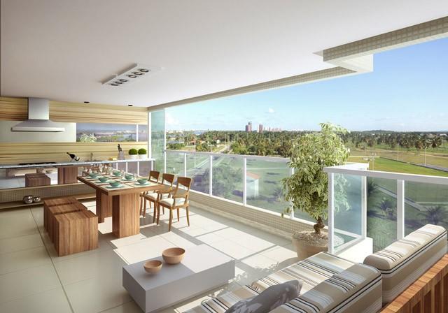 Sacada de apartamento ampla para apreciar a vista