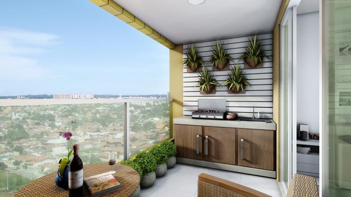Sacada de apartamento pequena