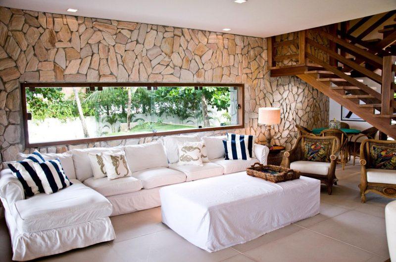 Decora o de sala de estar 15 revestimentos de paredes for Revestimento 3d sala de estar
