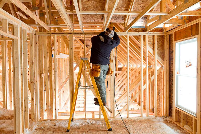 Casa com estrutura em wood Frame
